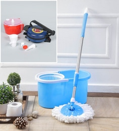 Kingsburry Plastic Blue Mop With Free Dough Maker & Roti Maker