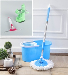 Kingsburry Plastic Blue Mop With Free Juicer & Spray Glass Wiper