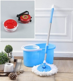 Kingsburry Plastic Blue Mop With Free Roti Maker & Casserole