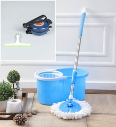 Kingsburry Plastic Blue Mop With Free Roti Maker & Hand Wiper