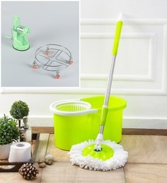 Kingsburry Plastic Green Mop With Free Juicer & Gas Trolley