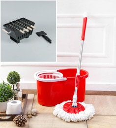 Kingsburry Plastic Red Mop With Free Barbeque & Gas Toaster