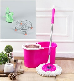 Kingsburry Steel Pink Mop With Free Juicer & Gas Trolley
