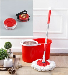 Kingsburry Steel Red Mop With Free Roti Maker & Casserole