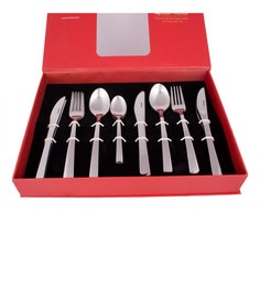 Kishco Limited Wedge Stainless Steel Cutlery Set - Set Of 24 - 1594892