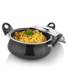 Kitchen Chef Mughlai Handi With Dome Lid 275 Mm In Aluminium