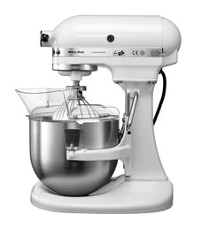 KitchenAid 4.8L Bowl Lift Stand Mixer In White (5KPM5BWH)
