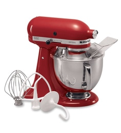 KitchenAid Artisan Design Series 4.8L Tilt-Head Stand Mixer In Empire Red (5KSM150PSDER)