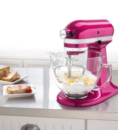KitchenAid 4.8L Artisan Design Tilt Head Stand Mixer (Raspberry Ice) 5KSM150PSDRI + Free 2.8L Bowl