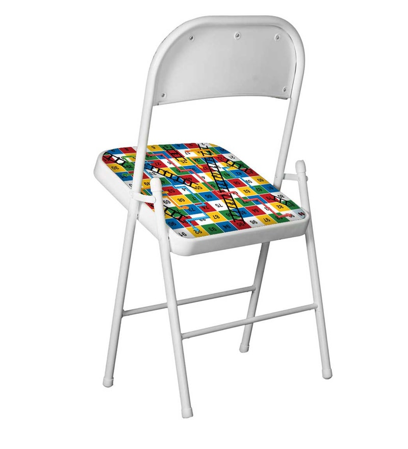 Phenomenal Kids Designer Metal Folding Chair In White Matt Colour By Nutcase Caraccident5 Cool Chair Designs And Ideas Caraccident5Info