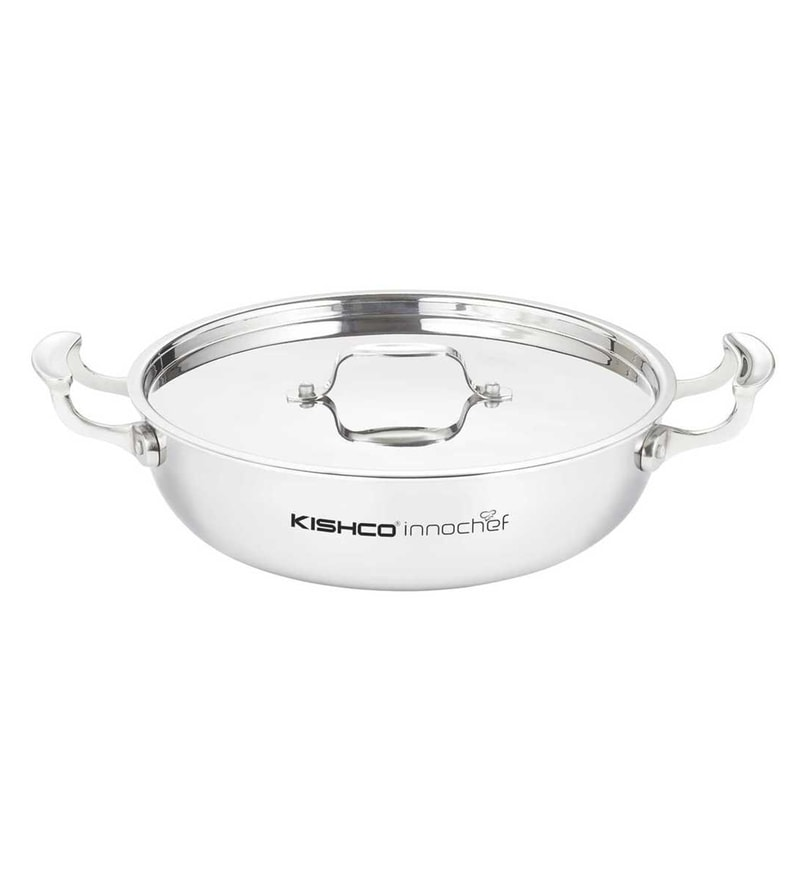 Stainless Steel Kadhai with Lid by Kishco Limited