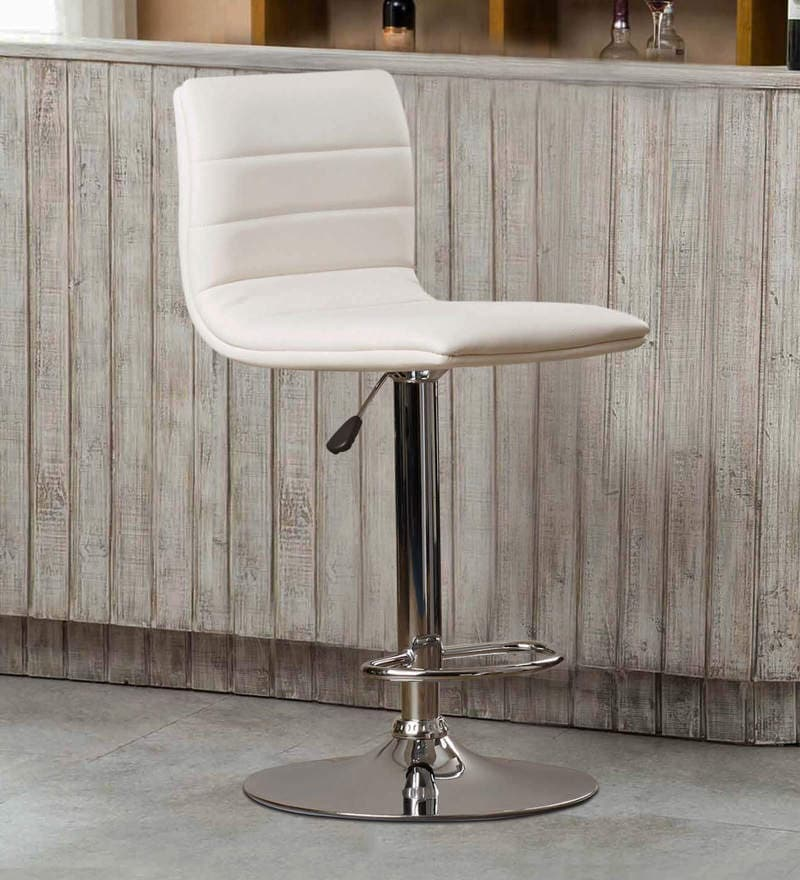 Kitchen/Bar Stool in White Leatherette by Exclusive Furniture