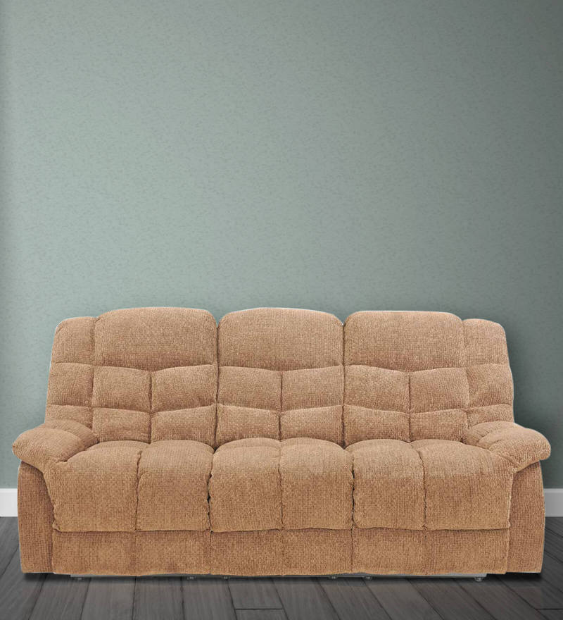 Kiwi Three Seater Recliner in Brown Colour by Royal Oak