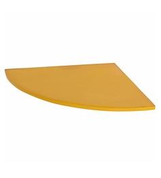 Klaxon Yellow Glass Decor  Corner Shelves - Set Of 3 - 1648144