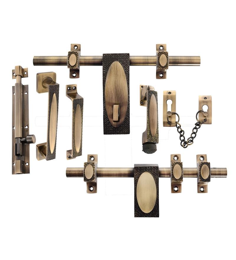 Klaxon Beautiful Brass Door Kit - Set of 7