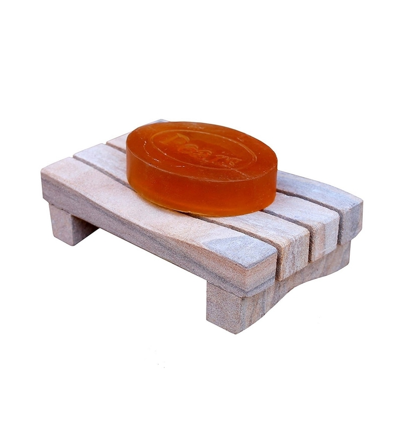 Kleo Off White Stone Soap Dish