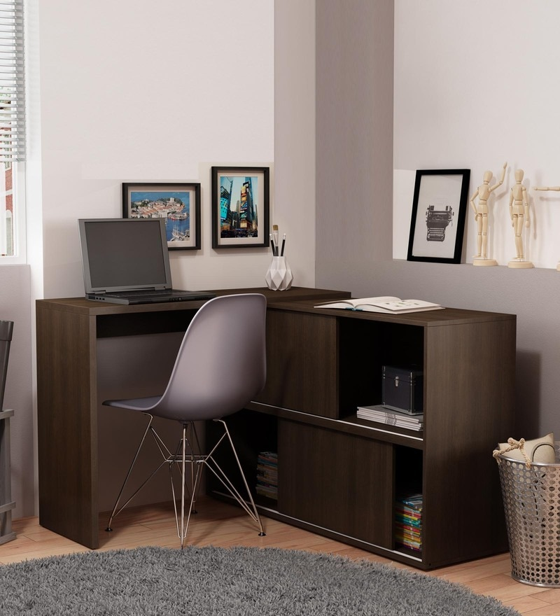 pine crest admire office table 4. Koko Study Cum Work Desk With Book Shelf In Tobacco Finish By Mintwud Pine Crest Admire Office Table 4