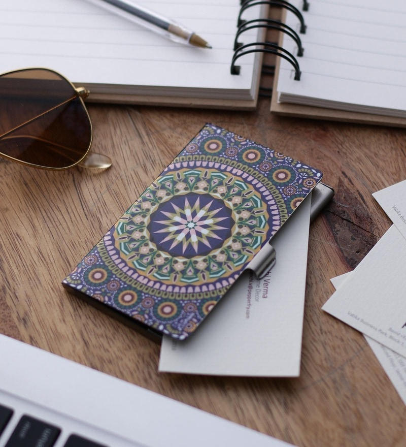 Kolorobia Moroccan Steel Multicolour Card Holder