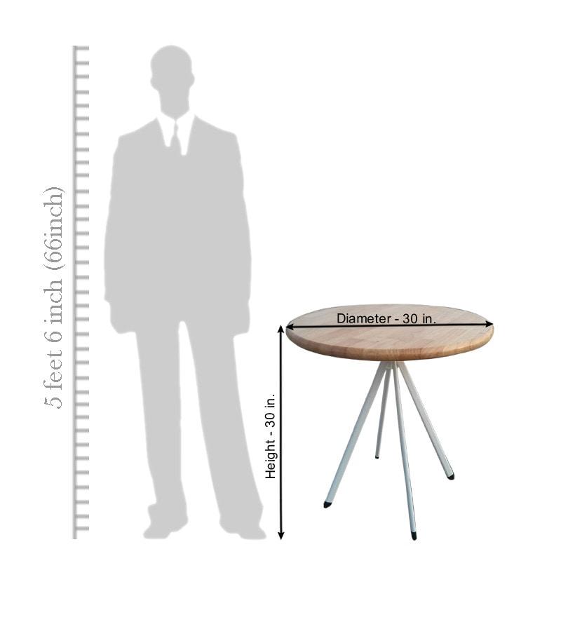 Komfort Stylish 4 Seater Dining Set With 30 Inch Round