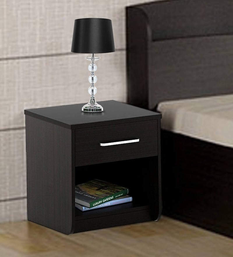 Kosmo Imperial Bed Side Table in Natural Wenge Finish by Spacewood