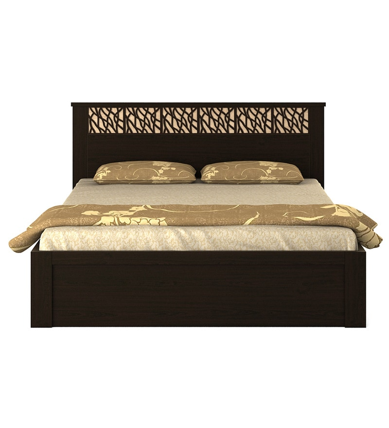 Buy Kosmo Weave Queen Size Bed With Box Storage In