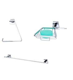 KRM Decor Platinum Brass Bathroom Fixture Set - Set Of 3