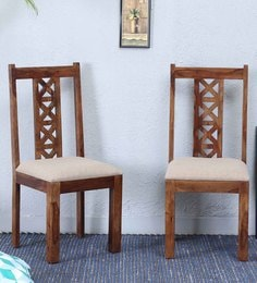 Kryss Dining Chair (Set Of 2)  In Provincial Teak Finish