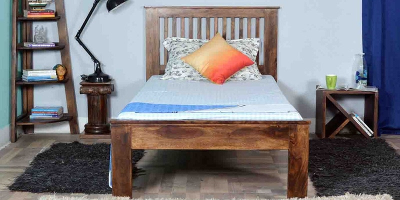 Dalton Single Size Bed in Provincial Teak Finish by Woodsworth