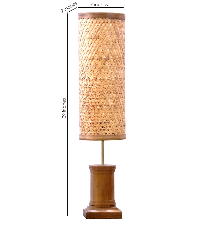 Buy tattva beige bamboo floor lamp by kraftinn online click to zoom inout aloadofball Images