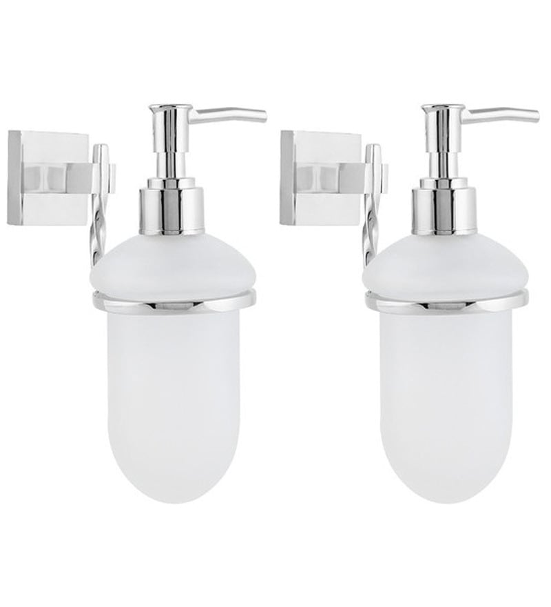 KRM Decor Topaz Stainless Steel Soap Dispenser - Set of 2
