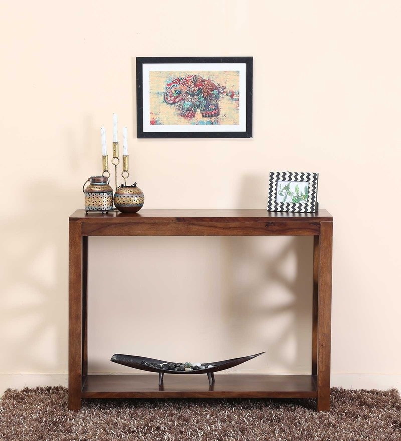 Buy Abbey Console Table in Provincial Teak Finish by Woodsworth ...