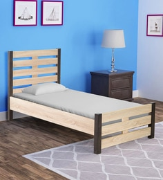 Kuro Single Bed In Sonoma Oak Finish ...