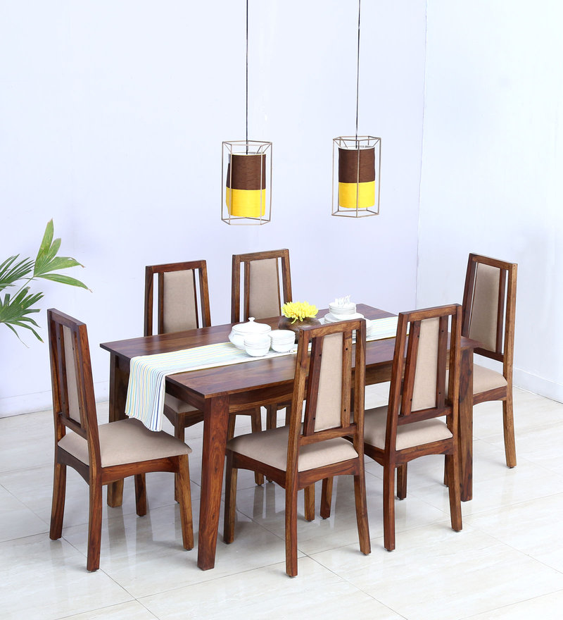 Buy Oakville Six Seater Dining Set in Provincial Teak Finish by ...