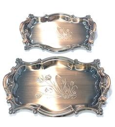 Lacuzini Metal Serving Tray - Set Of 2