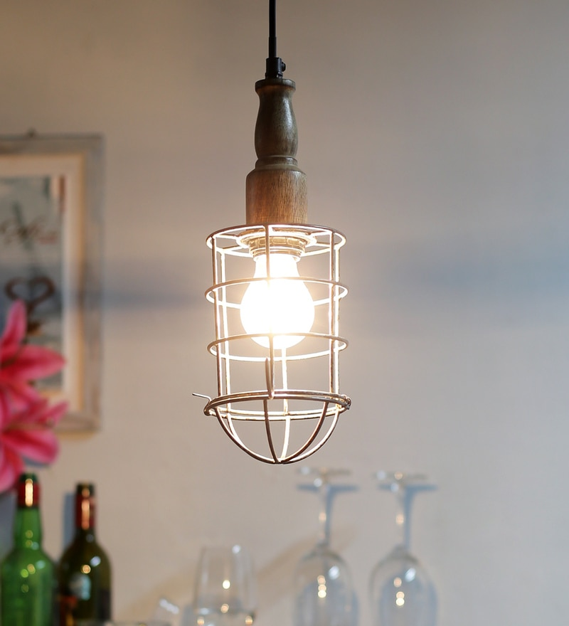 Black Wood & Iron Pendant by La Maison Classique