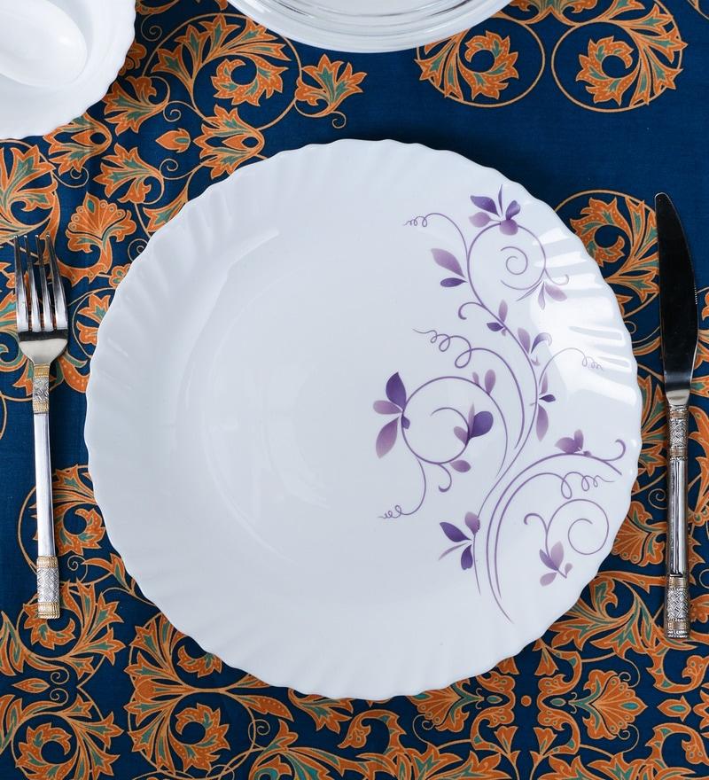 La Opal Diva Dazzle Purple Opal Ware Dinner Plate Set of 6