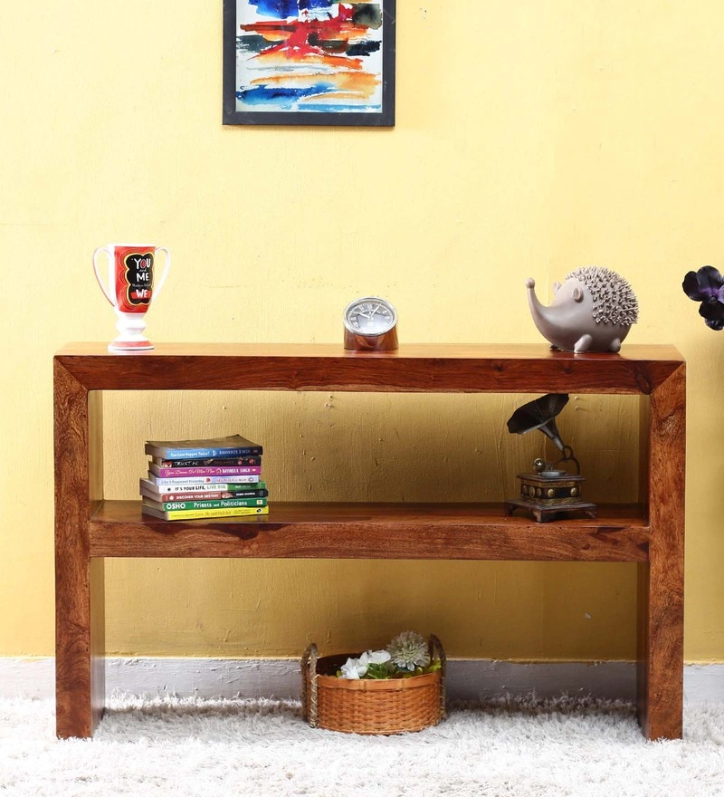 Lacanoia Console Table in Provincial Teak Finish by Woodsworth