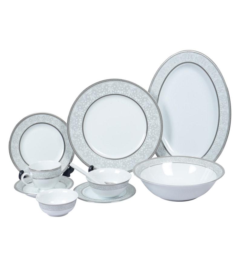 Porcelain Dinner Set - Set of 51 by Lakline