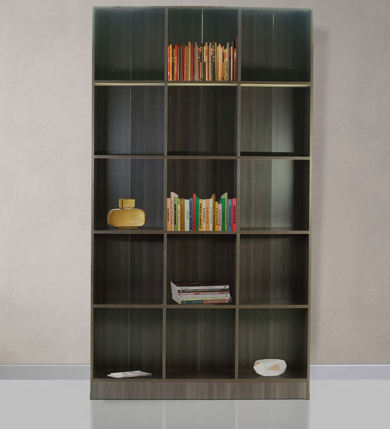 Large Book Shelf cum Display Unit in Wenge Finish by Marco