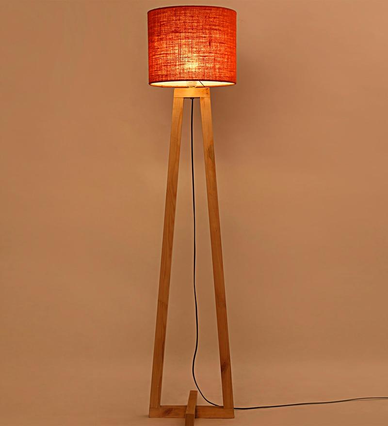 Orange Iron & Jute Floor Lamp by Lavish