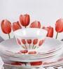 Diva Tulip Garden Opal Ware 33-Piece Dinner Set by La Opala