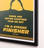 Paper & PU Frame 13 x 0.7 x 17.5 Inch Usain Bolt Sport Quotes Framed Poster by Lab No.4 - The Quotography Department