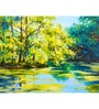 Hashtag Decor Lake in the Forest Engineered Wood 30 x 20 Inch Framed Art Panel