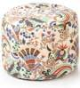 Floral Design Large Pouffe in Multicolour by Style HomeZ
