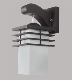 Contemporary Glass Metal Wood Wall Light WL1822
