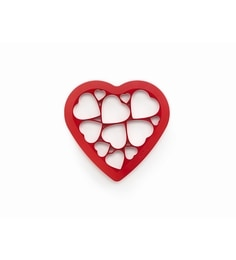 Lekue Red Silicone Heart Puzzle Cookie