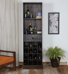 Lerro Bar Unit In Warm Chestnut Finish