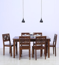 Lerro Six Seater Dining Set In Provincial Teak Finish