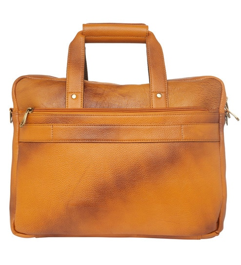 7349b27656d4 Buy Leather World Rust Office Bag