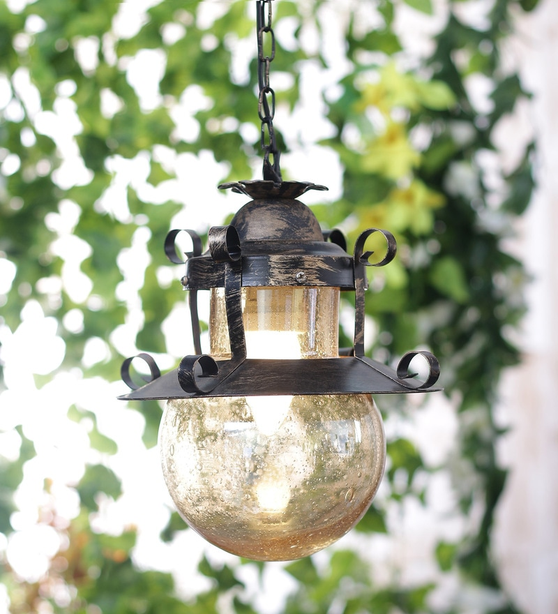 Wrought Iron Rustic Finish Pendent HL3849-1 by LeArc Designer Lighting